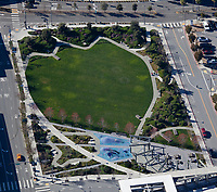 aerial photograph of Mariposa Park, Owens and Mariposa Streets, Mission Bay, San Francisco, California