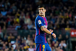 Luis Alberto Suarez Diaz of FC Barcelona looks on during the La Liga 2017-18 match between FC Barcelona and Malaga CF at Camp Nou on 21 October 2017 in Barcelona, Spain. Photo by Vicens Gimenez / Power Sport Images