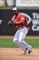 Erie Seawolves shortstop Marcus Lemon (39) throws to first during a game against the Binghamton Mets on July 13, 2014 at Jerry Uht Park in Erie, Pennsylvania.  Binghamton defeated Erie 5-4.  (Mike Janes/Four Seam Images)