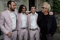 Luc Plamondon et le groupe quebecois The Lost Fingers, juin 2009<br /> <br /> PHOTO :  Agence Quebec Presse