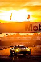 Sunset Corvette, 12 Hours of Sebring, Sebring International Raceway, Sebring, FL, March 2015.  (Photo by Brian Cleary/ www.bcpix.com )