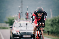 Kilian Frankiny (SUI/BMC)<br /> <br /> stage 16: Trento – Rovereto iTT (34.2 km)<br /> 101th Giro d'Italia 2018