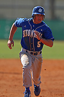 February 26, 2010:  Shortstop A.J. Rusbarsky of the Seton Hall Pirates during the Big East/Big 10 Challenge at Raymond Naimoli Complex in St. Petersburg, FL.  Photo By Mike Janes/Four Seam Images
