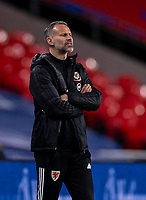 8th Occtober 2020, Wembley Stadium, London, England;  Wales head coach Ryan Giggs during a friendly match between England and Wales in London
