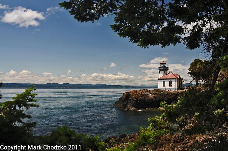 Lighthouse on Friday Harbor in Washington.