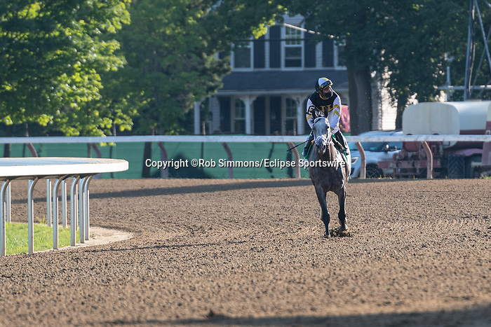 "August 22, 2020: Halladay #5, ridden by Luis Saez and trained by Todd Pletcher win the Fourstardave (G1), a Breeder's Cup World Championships ""Win and You're In Race"" at Saratoga Race Course in Saratoga Springs, N.Y. Rob Simmons/Eclipse Sportswire/CSM"