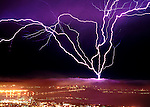 Lightning Strike in San Francisco September 8, 1999.