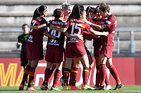 Agnese Bonfantini of AS Roma celebrates with team mates after scoring the goal of 2-0 during the Women Italy cup round of 8 second leg match between AS Roma and Florentia S.G. at stadio delle tre fontane, Roma, February 14, 2021. Photo Andrea Staccioli / Insidefoto