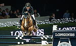 Anne-Sophie Godart of France rides Carlitto van't Zorgvliet in action at the Longines Grand Prix during the Longines Hong Kong Masters 2015 at the AsiaWorld Expo on 15 February 2015 in Hong Kong, China. Photo by Aitor Alcalde / Power Sport Images