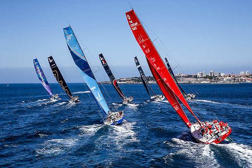 Coastal racing in The Ocean Race Europe off Portugal