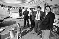 - Roma nomads camp at Musocco, north periphery of Milan, November 1987<br /> <br /> - campo di nomadi Rom presso Musocco, alla periferia nord di Milano, Novembre 1987
