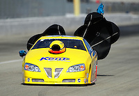 Nov. 11, 2011; Pomona, CA, USA; NHRA pro stock driver Rodger Brogdon during qualifying at the Auto Club Finals at Auto Club Raceway at Pomona. Mandatory Credit: Mark J. Rebilas-.