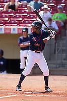 Cedar Rapids Kernels shortstop Jorge Polanco #5 bats during a game against the Lansing Lugnuts at Veterans Memorial Stadium on April 30, 2013 in Cedar Rapids, Iowa. (Brace Hemmelgarn/Four Seam Images)