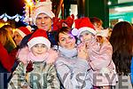 Wiktoria, Marcin, Anna and Anastazja Walczak, waiting for Santa to arrive in Killarney on Saturday evening last.
