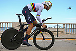 World Champion Filippo Ganna (ITA) Ineos Grenadiers during Stage 7 of Tirreno-Adriatico Eolo 2021, an individual time trial running 10.1km around San Benedetto del Tronto, Italy. 16th March 2021. <br /> Photo: LaPresse/Marco Alpozzi | Cyclefile<br /> <br /> All photos usage must carry mandatory copyright credit (© Cyclefile | LaPresse/Marco Alpozzi)