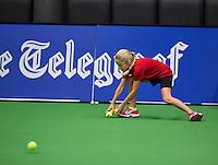 December 18, 2014, Rotterdam, Topsport Centrum, Lotto NK Tennis, ballgirl<br /> Photo: Tennisimages/Henk Koster