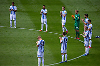 Huddersfield Town players applaud the victims of the corona virus<br /> <br /> Photographer Alex Dodd/CameraSport<br /> <br /> The EFL Sky Bet Championship - Huddersfield Town v Wigan Athletic - Saturday 20th June 2020 - John Smith's Stadium - Huddersfield <br /> <br /> World Copyright © 2020 CameraSport. All rights reserved. 43 Linden Ave. Countesthorpe. Leicester. England. LE8 5PG - Tel: +44 (0) 116 277 4147 - admin@camerasport.com - www.camerasport.com