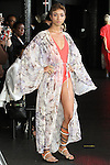 Fallon walks runway in a kimono sleeve cover up & brick house bathing suit from the Carlton Jones Resort 2017 collection fashion show at Le Bain in The Standard Hotel in New York City, on June 8, 2017.