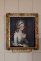 Portrait of Catherine Denn, Countess of Beauchamp, wife of the first earl. She started the family habit of collecting paintings