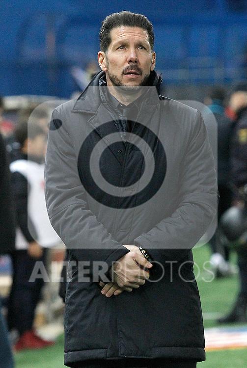 Atletico de Madrid's coach Diego Pablo Simeone during La Liga match. February 21,2016. (ALTERPHOTOS/Acero)