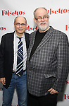 James Lapine and William Finn attends the Opening Night After Party for 'Falsettos'  at the New York Hilton Hotel on October 27, 2016 in New York City.