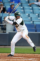 """University of South Florida Todd Brazeal #33 during a game vs. the Miami Hurricanes in the """"Florida Four"""" at George M. Steinbrenner Field in Tampa, Florida;  March 1, 2011.  USF defeated Miami 4-2.  Photo By Mike Janes/Four Seam Images"""