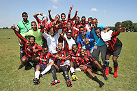 Concordia FC players celebrate after winning the East London Sunday League Dick Coppock Cup Final at Hackney Marshes - 31/05/09 - MANDATORY CREDIT: Gavin Ellis/TGSPHOTO - Self billing applies where appropriate - Tel: 0845 094 6026