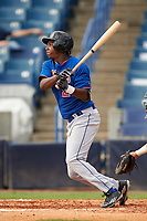 Jordan Anderson (2) of James Clemens High School in Madison, Alabama playing for the New York Mets scout team during the East Coast Pro Showcase on July 29, 2015 at George M. Steinbrenner Field in Tampa, Florida.  (Mike Janes/Four Seam Images)