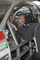 """HOMESTEAD, FL - OCTOBER 09: Actor Patrick """"McDreamy"""" Dempsey, driver for Dempsey Racing,  on Homestead-Miami Speedway's 2.21-mile road course in purusit of a road-racing Championship.  on October 9, 2009 in Homestead, Florida<br /> <br /> People:  Patrick Dempsey"""