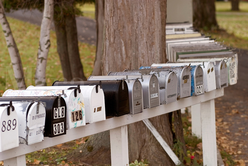 Mailboxes in North Hero, VT.  Lake Champlaine Islands.