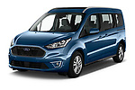 2020 Ford Grand-Tourneo-Connect Titanium 5 Door Minivan Angular Front automotive stock photos of front three quarter view