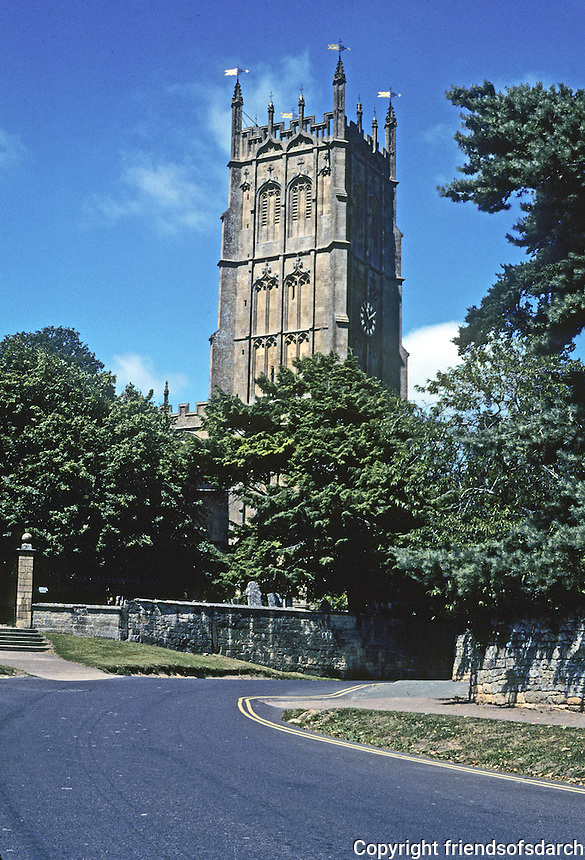 Chipping Campden: Tower of St. James Church, 15th Century Perpedicular. Gloucestershire. Photo '05.