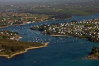 Europe/France/Bretagne/29/Finistère: Vue aérienne de l'Aber Benoit