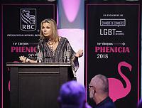 Caroline Neron<br /> , Presidente d'honneur<br /> au Gala Phenicia 2018<br /> , le 31 mai 2018,a la Caisse de Depot et PLacements du Quebec.<br /> <br /> PHOTO : Agence Quebec Presse