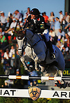8 October 2010: Kevin Staut (FRA) and Silvana De Hus compete during the Show Jumping Individual Championship Qualifiers in the World Equestrian Games in Lexington, Kentucky