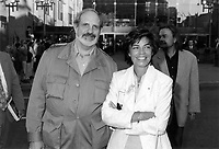 Montreal (Qc) CANADA - 1995 File Photo -<br /> <br /> Brian DePalma , Jury member ,Louise Beaudoin, Cultural Affairs Minister, Quebec (R)<br /> on opening night.<br /> <br /> <br /> photo (c) Pierre Roussel - Images Distribution