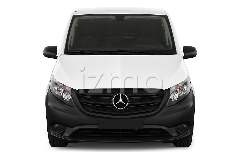 Car photography straight front view of a 2020 Mercedes Benz eVito Base 4 Door Cargo Van Front View