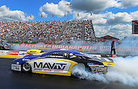 Sept 9, 2012; Clermont, IN, USA: NHRA pro stock driver Rodger Brogdon during the US Nationals at Lucas Oil Raceway. Mandatory Credit: Mark J. Rebilas-