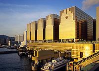 Hong Kong. China ferry terminal. Tsim Sha Tsui. China.