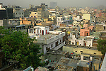 Rooftops from the Paharganj district of New Delhi, India.