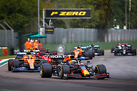 restart of the race after red flag, drapeau rouge 33 VERSTAPPEN Max (nld), Red Bull Racing Honda RB16B, 04 NORRIS Lando (gbr), McLaren MCL35M, action during the Formula 1 Pirelli Gran Premio Del Made In Italy E Dell emilia Romagna 2021 from April 16 to 18, 2021 on the Autodromo Internazionale Enzo e Dino Ferrari, in Imola, Italy -  <br /> Formula 1 Gran Premio Del Made In Italy E Dell Emilia Romagna 2021 18/04/2021<br /> Photo DPPI/Panoramic/Insidefoto <br /> ITALY ONLY