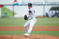 Birmingham Barons starting pitcher Lincoln Henzman (15) in action against the Pensacola Blue Wahoos at Regions Field on July 7, 2019 in Birmingham, Alabama. The Barons defeated the Blue Wahoos 6-5 in 10 innings. (Brian Westerholt/Four Seam Images)