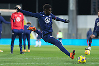 WIENER NEUSTADT, AUSTRIA - : Yunus Musah #18 of the United States warming up during a game between  at Stadion Wiener Neustadt on ,  in Wiener Neustadt, Austria.