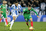 CD Leganes' Youssef En-Nesyri (L) and Deportivo Alaves' Martin Aguirregabiria  during La Liga match. November 23,2018. (ALTERPHOTOS/Alconada)
