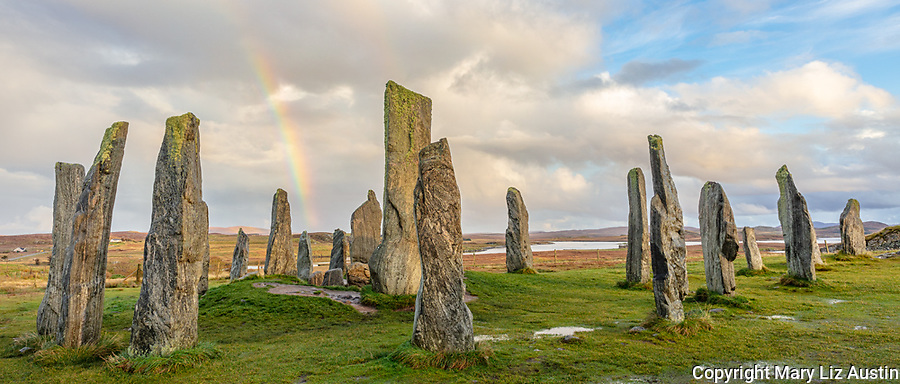 Isle of Lewis and Harris, Scotland: Rainbow and clearing sky at the Callanish Standing Stones