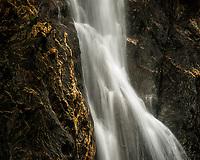 Trident Waterfall in Franz Josef Glacier valley, Westland Tai Poutini National Park, South Westland, West Coast, UNESCO World Heritage Area, New Zealand, NZ