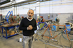 Cristiano De Rosa shows us around the De Rosa museum and factory, Cusano Milanino, Italy. 12th October 2018.<br /> Picture: Eoin Clarke | Cyclefile<br /> <br /> <br /> All photos usage must carry mandatory copyright credit (© Cyclefile | Eoin Clarke)