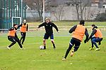 Waldhofs Marcel Seegert (Nr.5) am Ball beim Training in der 3. Liga des SV Waldhof Mannheim.<br /> <br /> Foto © PIX-Sportfotos *** Foto ist honorarpflichtig! *** Auf Anfrage in hoeherer Qualitaet/Aufloesung. Belegexemplar erbeten. Veroeffentlichung ausschliesslich fuer journalistisch-publizistische Zwecke. For editorial use only.