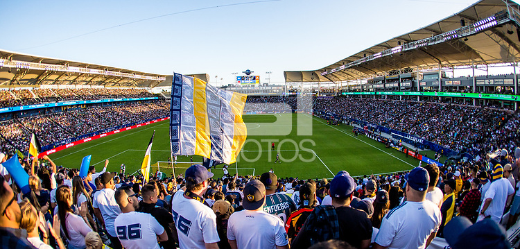 CARSON, CA - SEPTEMBER 29: Dignity Health Sports Park during a game between Vancouver Whitecaps and Los Angeles Galaxy at Dignity Health Sports Park on September 29, 2019 in Carson, California.