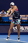 Ashleigh Barty of Australia hits a return during the singles Round Robin match of the WTA Elite Trophy Zhuhai 2017 against Angelique Kerber of Germany at Hengqin Tennis Center on November  02, 2017 in Zhuhai, China.Photo by Yu Chun Christopher Wong / Power Sport Images